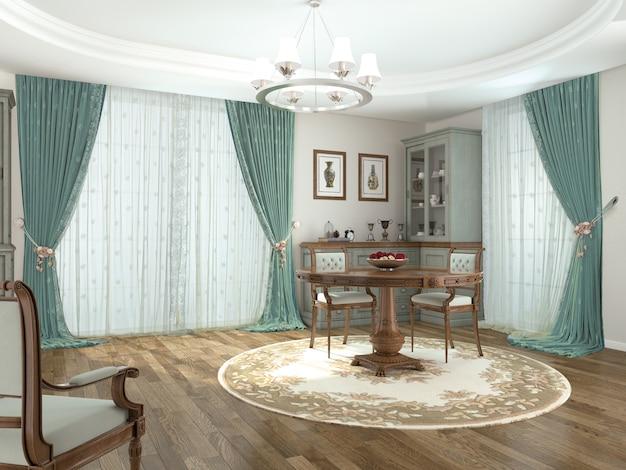 Vorhangfenster mit dekorativen Premium Fotos