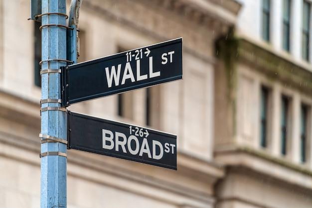 Wall street Premium Fotos