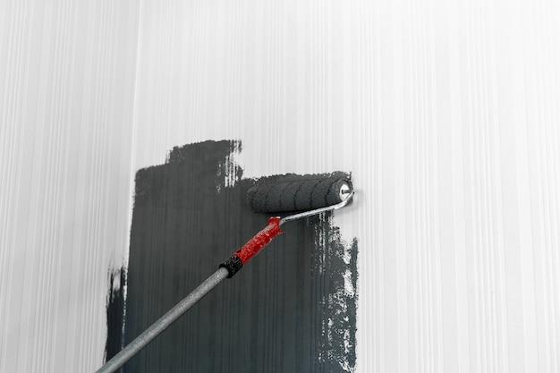 Walzenpinsel malerei Premium Fotos