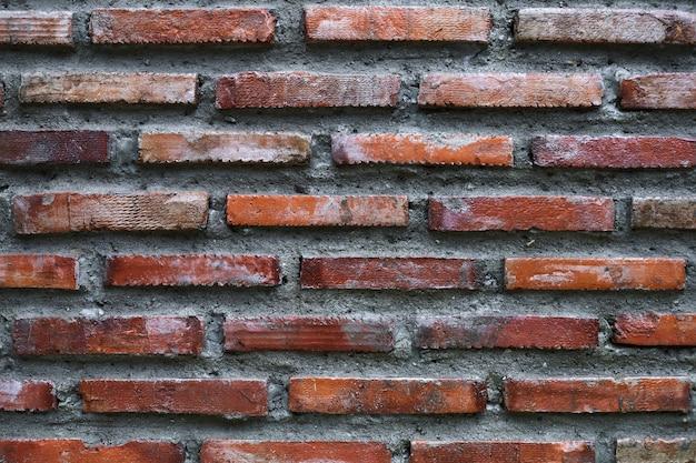 Wand des ziegelstein- und zementhintergrundes Premium Fotos