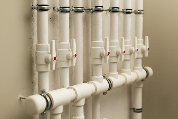 Wasserleitungen im untergrund Premium Fotos