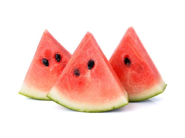 Wassermelone getrennt auf weißem hintergrund Premium Fotos