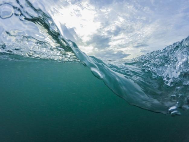 Wasseroberfläche und welligkeit welle Premium Fotos