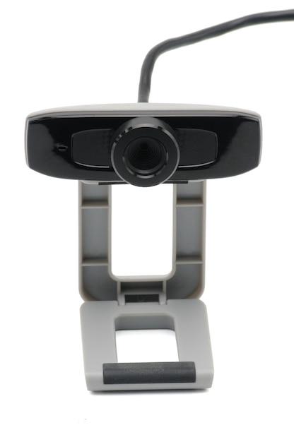 Webcam mit draht isoliert Premium Fotos