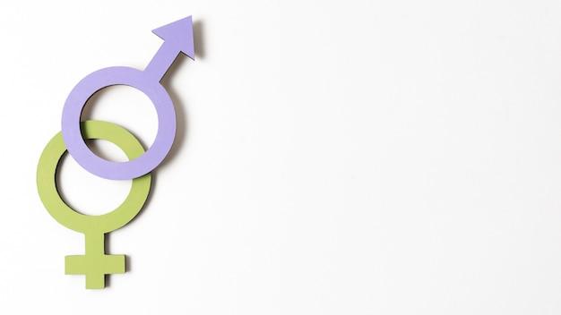 Weibliche und männliche geschlechtssymbole kopieren raum Kostenlose Fotos