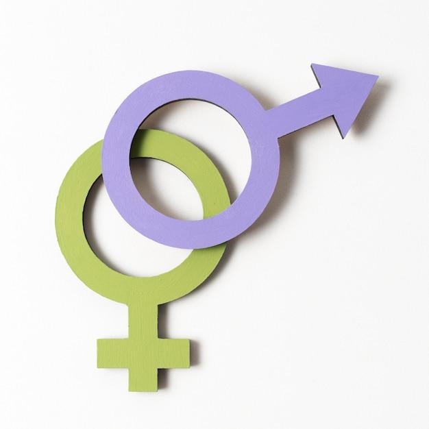 Weibliche und männliche geschlechtssymbolnahaufnahme Kostenlose Fotos