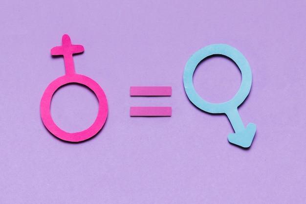 Weibliche und männliche geschlechtszeichen sind gleichermaßen verantwortlich Kostenlose Fotos