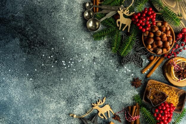 Weihnachten, das konzept kocht Premium Fotos