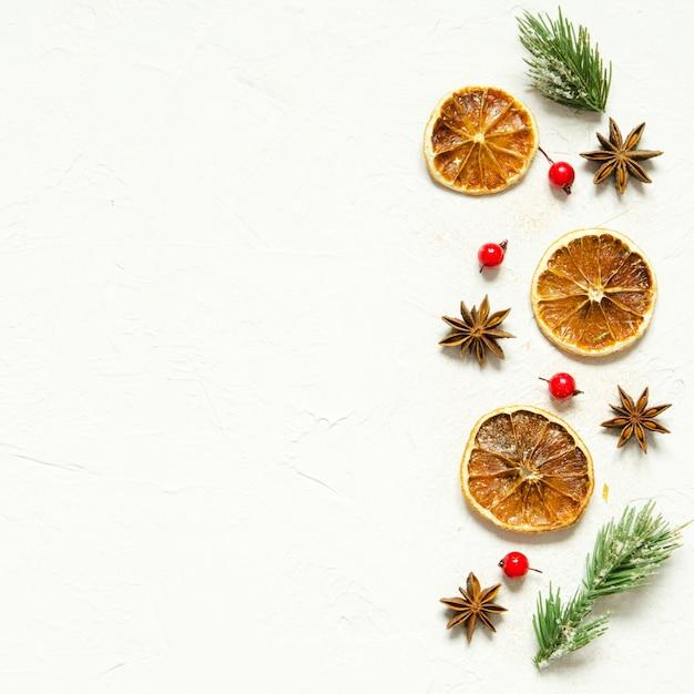 Weihnachten oder neujahr komposition Premium Fotos