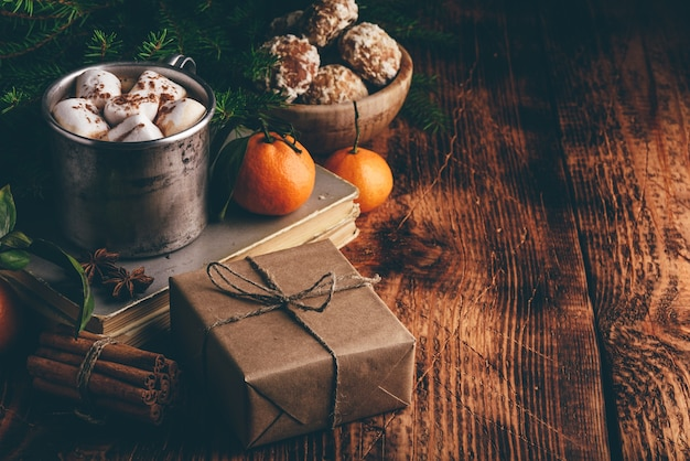 Weihnachten stillleben Premium Fotos