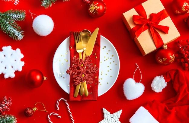 Weihnachten tabelleneinstellung Premium Fotos
