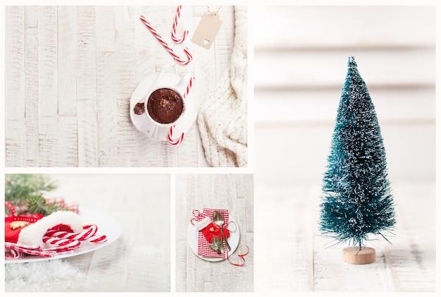 weihnachten zusammensetzung der baum und dekorationen. Black Bedroom Furniture Sets. Home Design Ideas