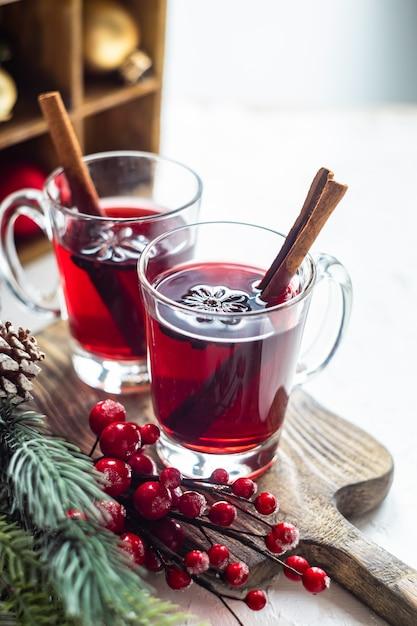 Weihnachtlicher glühwein Premium Fotos