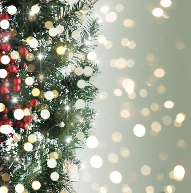 weihnachtsbaum hintergrund mit bokeh lichter download. Black Bedroom Furniture Sets. Home Design Ideas
