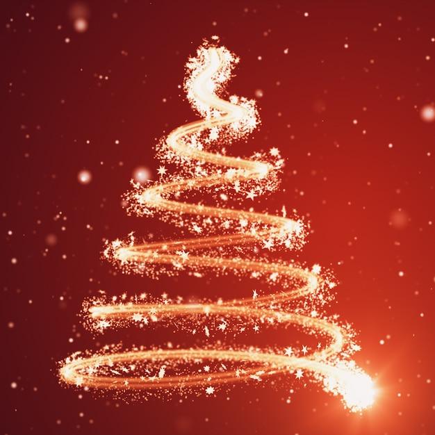 Weihnachtsbaumhintergrund - frohe weihnachten 3d illustration Premium Fotos