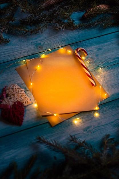 Weihnachtsbrief an den märchenstil. attrappe, lehrmodell, simulation. Kostenlose Fotos