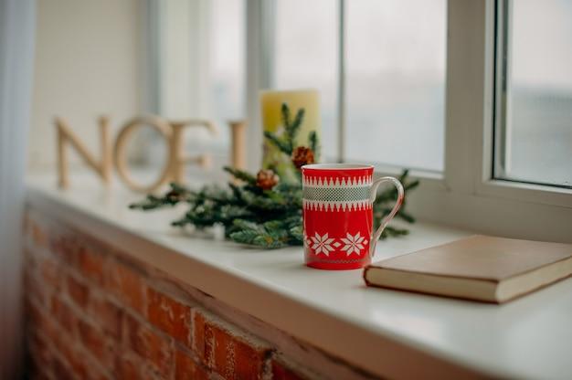 Weihnachtsdekoration fenster Premium Fotos