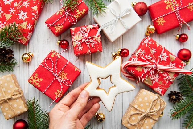 Weihnachtsgeschenk-boxen Premium Fotos