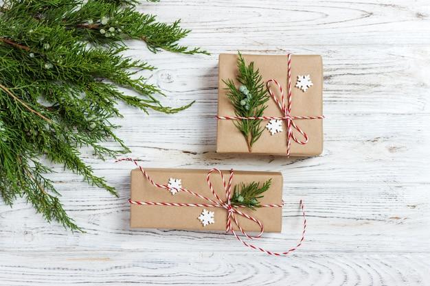 Weihnachtsgeschenke hintergrund Premium Fotos