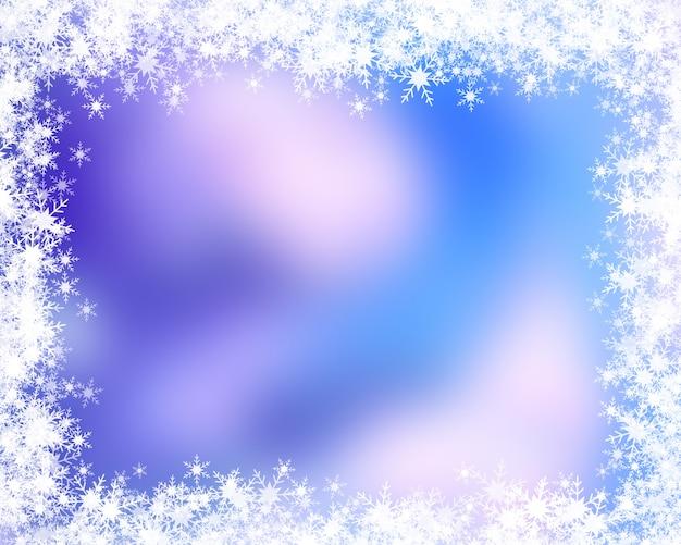 Weihnachtshintergrund mit schneeflockerand Kostenlose Fotos