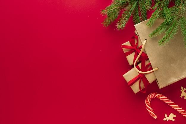 Weihnachtskonzept mit kopienraum Kostenlose Fotos