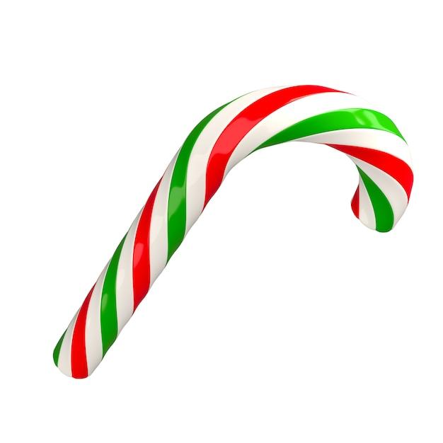 Weihnachtsrotes grünes weiß verdrehte zuckerstange caramel3d Premium Fotos