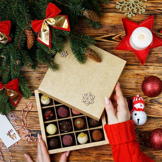 Weihnachtstrüffel Premium Fotos
