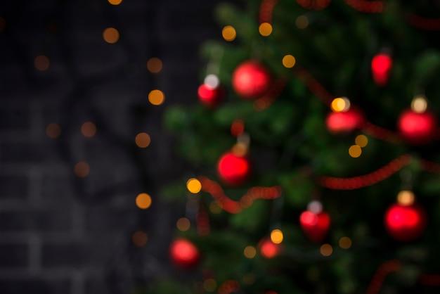 Weihnachtszusammensetzung mit baum Premium Fotos