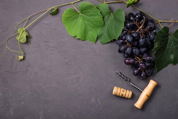 Weinbereitungskonzept von der neuen herbsttraubenernte Premium Fotos