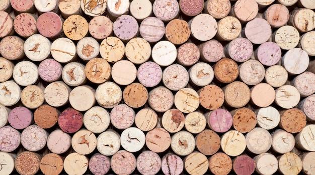 Weinkorken stapeln Premium Fotos