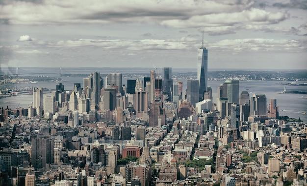 Weinleseeffekt von manhattan, new york city. Premium Fotos