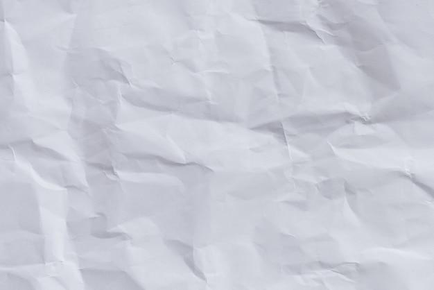 Weiß zerknittertes Papier Hintergrund und Textur, Faltig ...