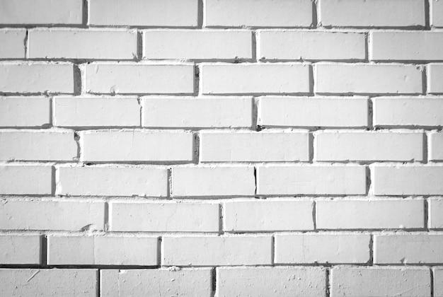 Weiße backsteinmauer für textur oder hintergrund Premium Fotos