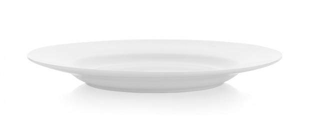 Weiße keramikplatte auf weiß Premium Fotos