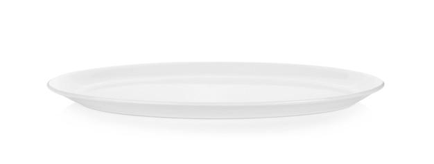 Weiße platte isoliert auf weiß Premium Fotos