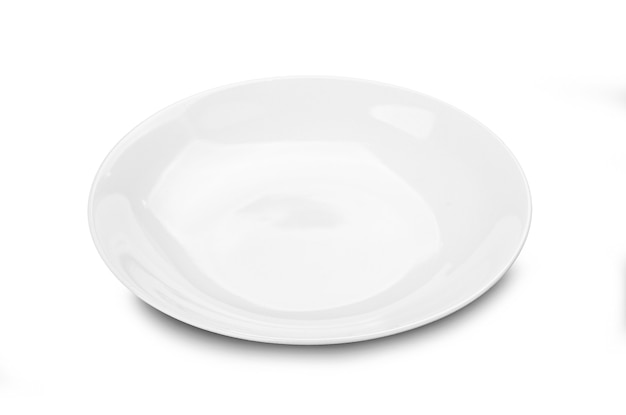 Weiße platte isoliert Premium Fotos