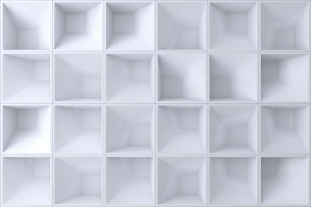 Weiße quadratform der wand 3d für hintergrund. Premium Fotos