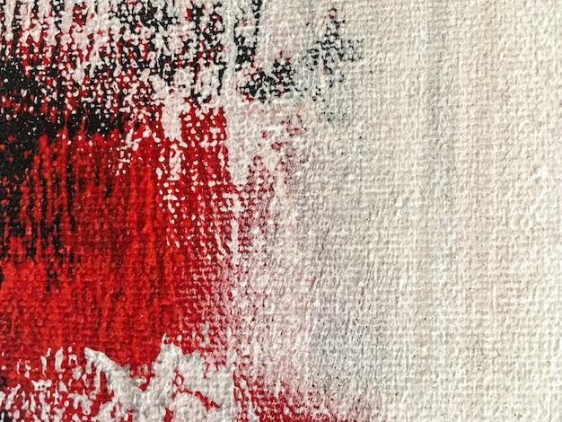Weiße und rote farben des abstrakten malereikunsthintergrundes Premium Fotos