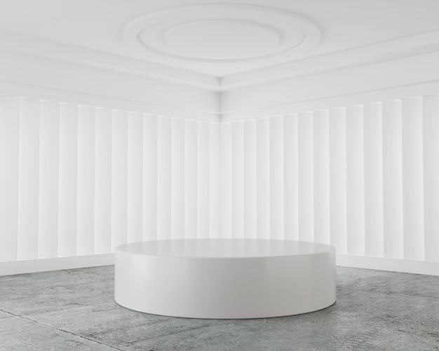 Weißer abstrakter mockup-szenepodestanzeigenproduktstand Premium Fotos