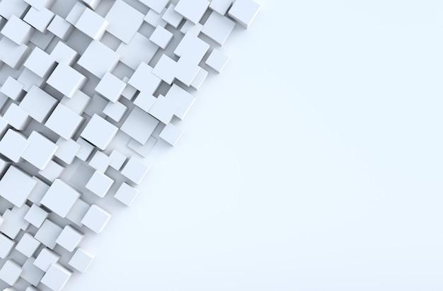 Weißer geometrischer würfel formt hintergrund. für design schmücken. realistisches 3d übertragen. Premium Fotos