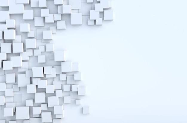 Weißer geometrischer würfel formt hintergrund Premium Fotos