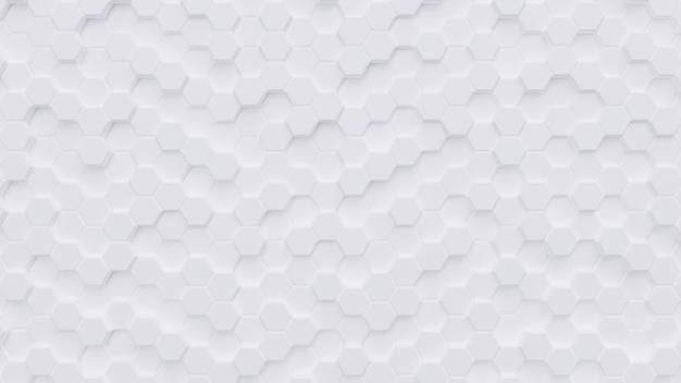 Weißer hexagonmusterhintergrund wiedergabe 3d Premium Fotos