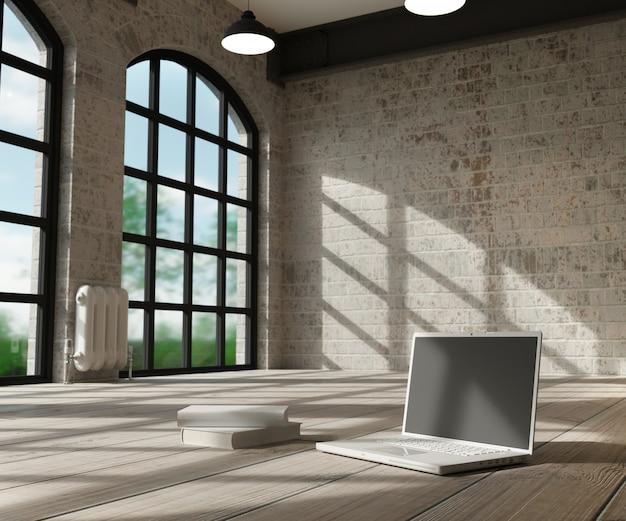 Weißer innenraum und computer Kostenlose Fotos
