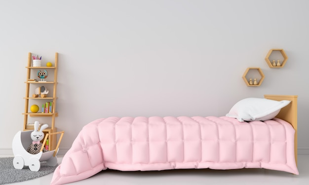 Weißer kinderschlafzimmerinnenraum für modell Premium Fotos