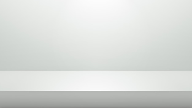 Weißer podiumstand für darstellungs- oder darstellungskonzept auf modernem raumhintergrund mit beleuchten licht Premium Fotos