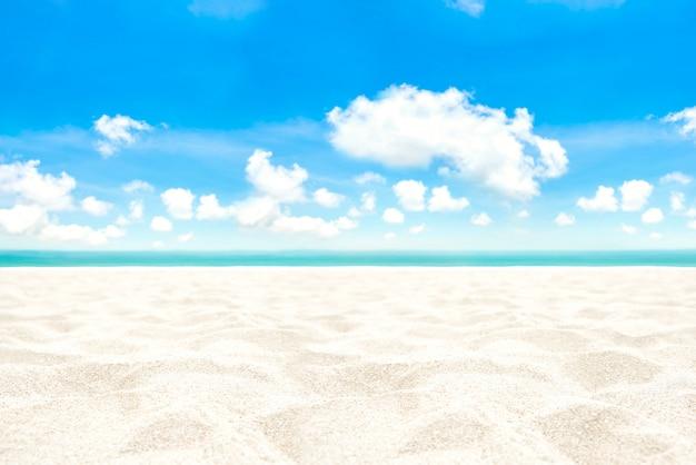 Weißer sandstrandhintergrund im sommer Premium Fotos