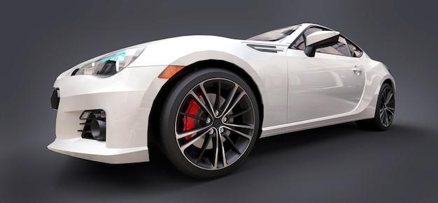 Weißes kleines sportwagen-coupé Premium Fotos