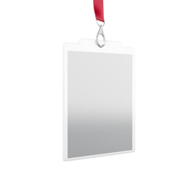 Weißes leeres identifikations-ausweis mit platz für foto und text Premium Fotos