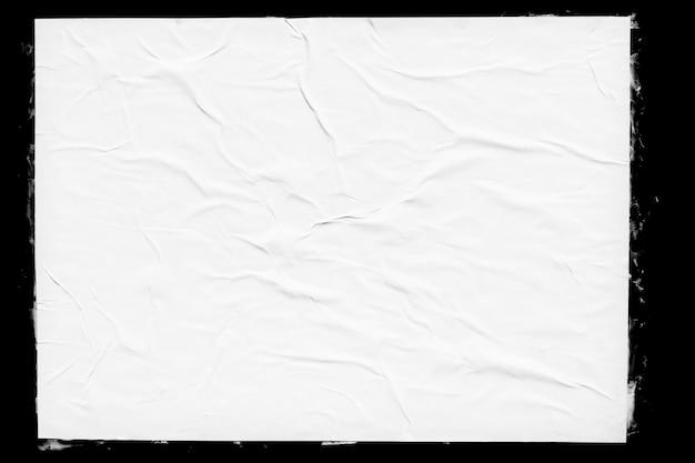 Weißes papierplakatmodell lokalisiert auf schwarz Premium Fotos