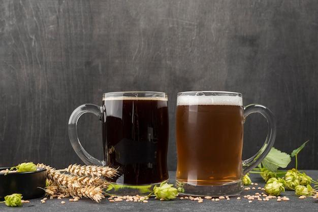 Weizensamen für leckeres bier Premium Fotos